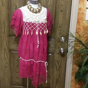 From Cuba sheer asymmetric dress or top